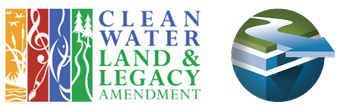 Clean Water, Land and Legacy Amendment Logo side by side with One Watershed, One Plan Logo