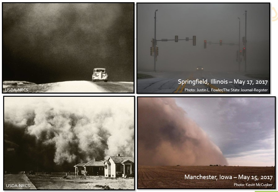 Dust Storm during Dust Bowl and during 2017