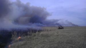 Prescribed burn of grassland