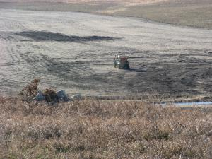 Broadcast seeding native grasses and forbs