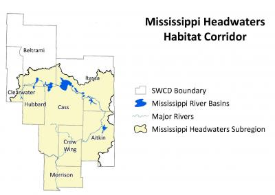 Mississippi Headwaters Map