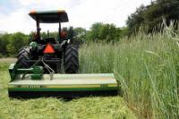 Mowing using a flail mower