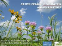 slide from a presentation on native prairie restoration and pollinators